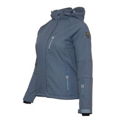 PINEA Damen Winter Softshell Jacke AILA Farbe JEANSBLAU