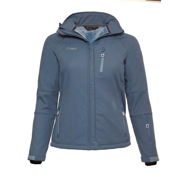 PINEA Damen Winter Softshell Jacke AILA Farbe JEANSBLAU Größe 48