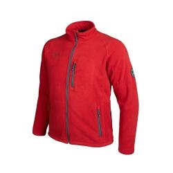 PINEA Herren warme Fleece Jacke JOUNI Farbe HAUTE ROT Größe M
