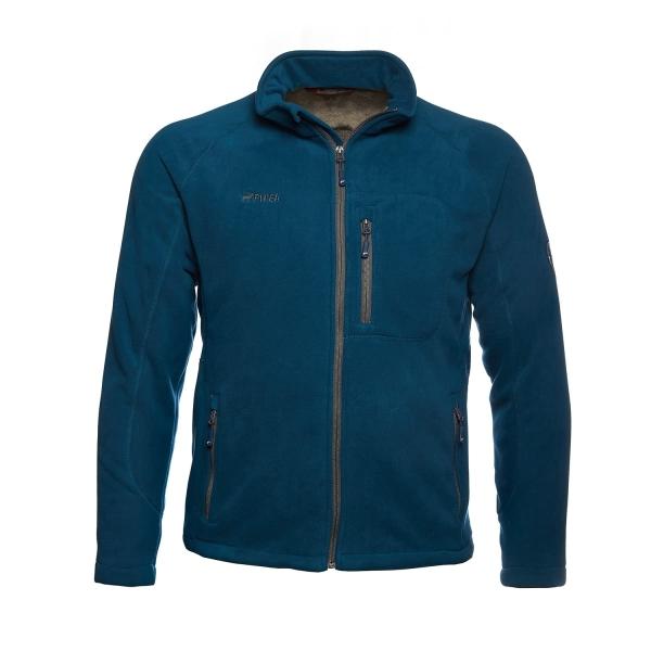 PINEA Herren warme Fleece Jacke JOUNI Farbe POSEIDON BLAU Größe M