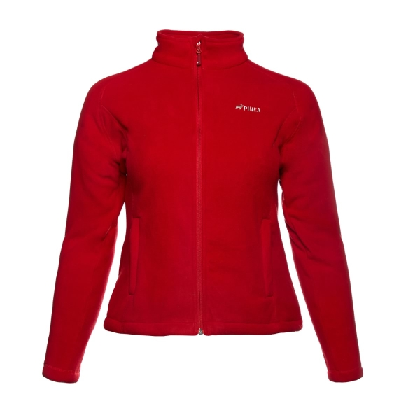 PINEA Damen warme Fleece Jacke MIIA HAUTE ROT