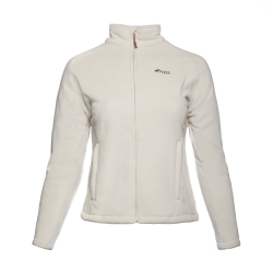 PINEA Damen warme Fleece Jacke MIIA ECRU