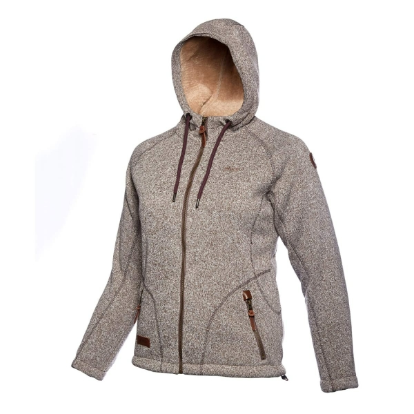 PINEA Damen Strickfleece Hoodie MOONA