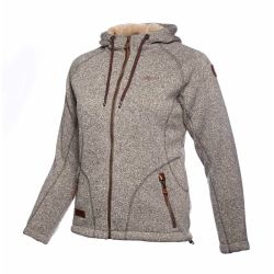 PINEA Damen Fleece Hoodie MOONA Farbe BEIGE