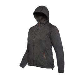 PINEA Damen Fleece Hoodie MOONA Farbe DUNKELGRAU Größe 38
