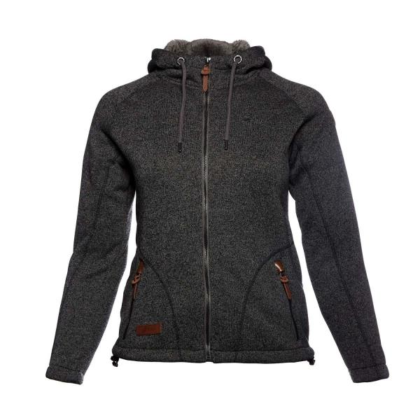 PINEA Damen Fleece Hoodie MOONA Farbe DUNKELGRAU Größe 42