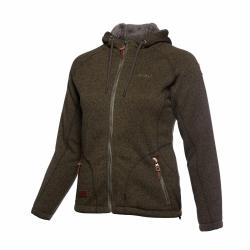 PINEA Damen Fleece Hoodie MOONA Farbe BELUGA GRÜN Größe 38
