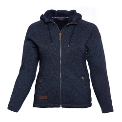 PINEA Damen Strickfleece Hoodie MOONA Farbe NAVY BLAU in...