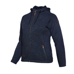 PINEA Damen Fleece Hoodie MOONA Farbe NAVY BLAU Größe 42
