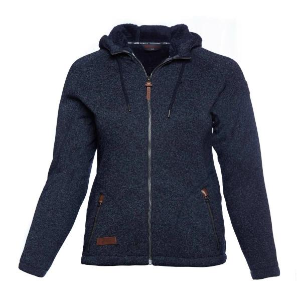PINEA Damen Fleece Hoodie MOONA Farbe NAVY BLAU Größe 44