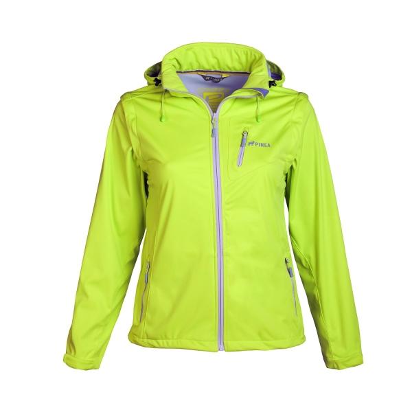 PINEA Damen Sommer Softshell Jacke AINO Farbe LIME