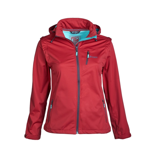 PINEA Damen Sommer Softshell Jacke AINO Farbe CHILI ROT Größe 46