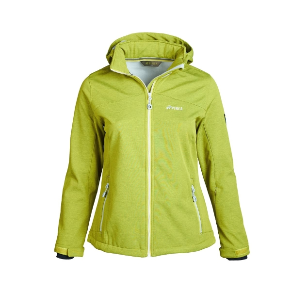 PINEA Damen Softshell Jacke LUMI Farbe GOLDEN LIME Größe 36