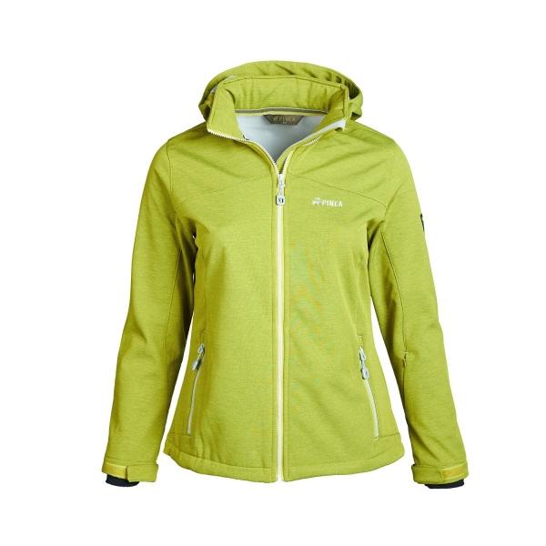 PINEA Damen Softshell Jacke LUMI Farbe GOLDEN LIME Größe 40