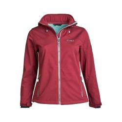 PINEA Damen Softshell Jacke LUMI Farbe CABARNET ROT Größe 42