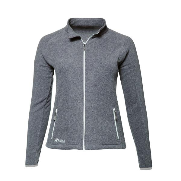 PINEA Damen Fleece Jacke VENLA Farbe HEATHER GREY