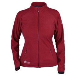 PINEA Damen Fleece Jacke MARI Farbe Farbe ROT