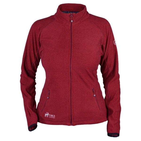PINEA Damen Fleece Jacke MARI Farbe ROT Größe 48