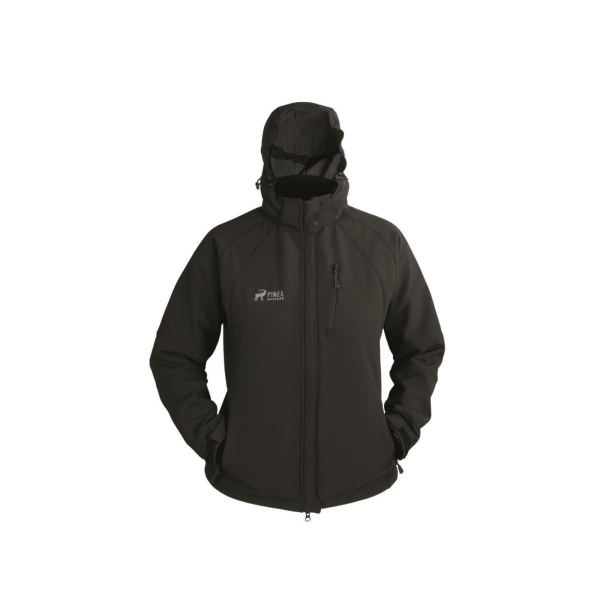 PINEA Damen Winter Softshell Jacke SIIRI Farbe SCHWARZ Größe 52