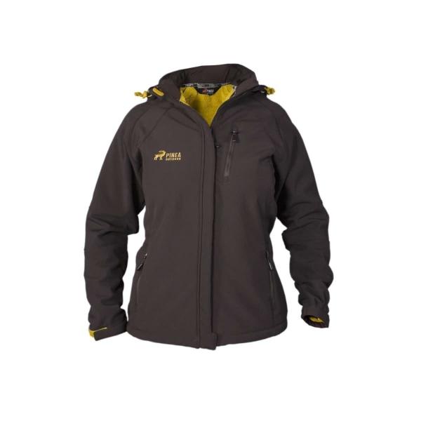 PINEA Damen Winter Softshell Jacke SIIRI Farbe BRAUN Größe 46