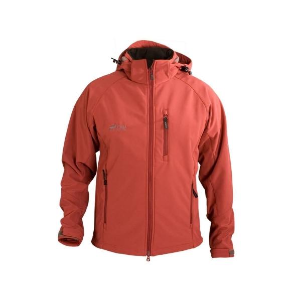 PINEA Herren Softshell Jacke TEEMU Farbe TIBETIAN ROT S