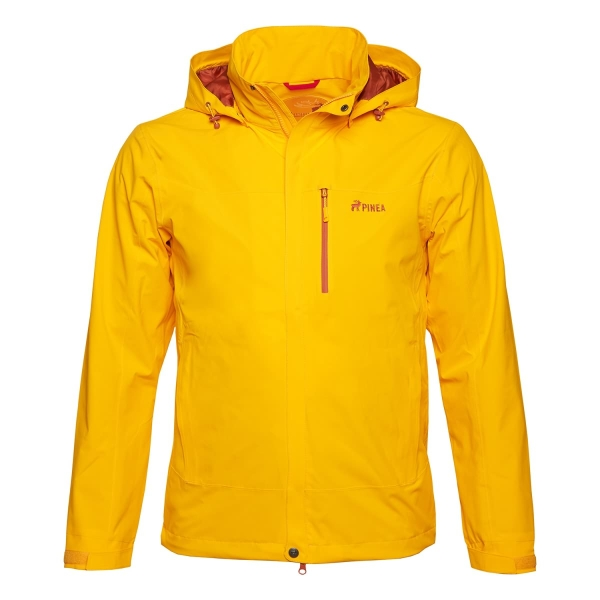 PINEA Herren Outdoor Jacke AKU Farbe GELB-ORANGE Größe S