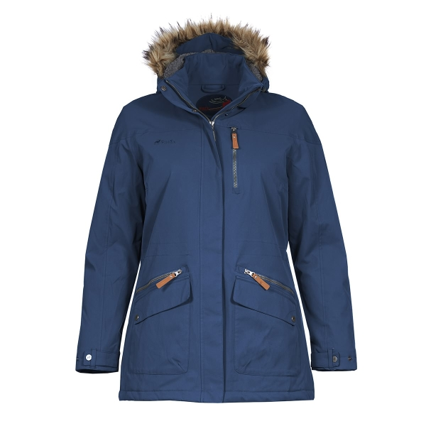 PINEA Damen Winter Mantel ANNE Farbe DUNKELBLAU Größe 42