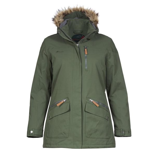 PINEA Damen Winter Mantel ANNE Farbe OLIVGRÜN