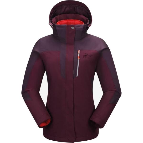 PINEA Damen 5in1 Jacke NINNI Farbe PLUM - POPPY ROT
