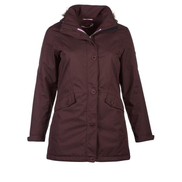 PINEA Damen Mantel PILVI Farbe WEINROT