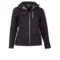 PINEA Damen Winter Softshell Jacke ROOSA Farbe SCHWARZ Größe 46
