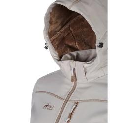 PINEA Damen Winter Softshell Jacke ROOSA Farbe SCHLAMM Größe 48