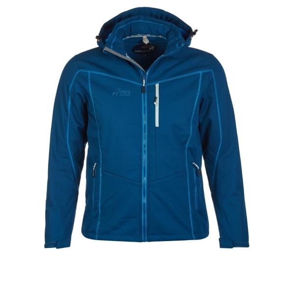 PINEA Herren Winter Softshell Jacke ROBIN Farbe POSEIDON BLAU Größe S