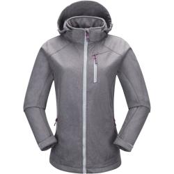 PINEA Damen Softshell Jacke KATA Farbe HELLGRAU Größe 46
