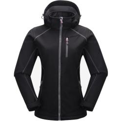 PINEA Damen Softshell Jacke KATA Farbe SCHWARZ Größe 46