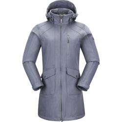PINEA Damen Softshell Mantel MIMMI Farbe HELLGRAU