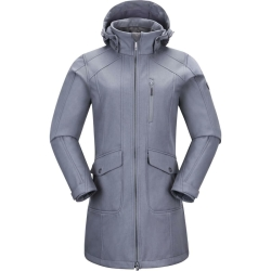 PINEA Damen Softshell Mantel MIMMI Farbe HELLGRAU in...