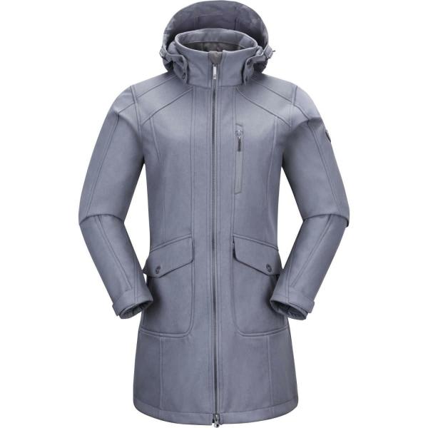 PINEA Damen Softshell Mantel MIMMI Farbe HELLGRAU Größe 40