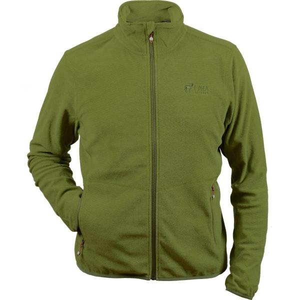 PINEA Herren dünne Fleece Jacke JARI Farbe KIWI